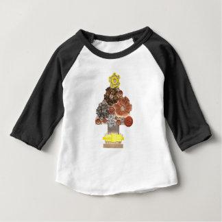 Camiseta Para Bebê Miúdo do fundo de Steampunk árvore parte superior