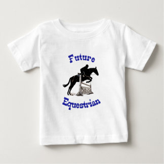 Camiseta Para Bebê Miúdo equestre futuro