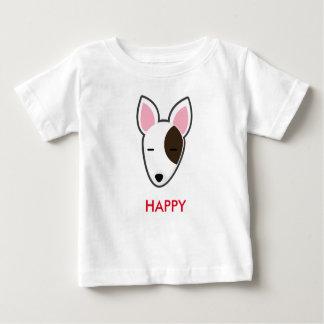 Camiseta Para Bebê Miúdo feliz de Petory bull terrier