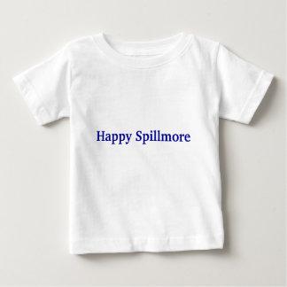 Camiseta Para Bebê Miúdo superficial feliz de Spillmore