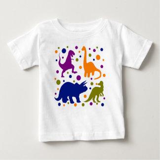 Camiseta Para Bebê Miúdos coloridos do bebê das bolinhas do