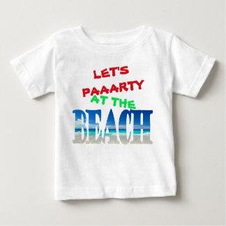 Camiseta Para Bebê Miúdos - deixe-nos Party na praia