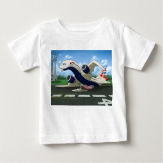 Camiseta Para Bebê Miúdos esgotados de British Airways do hangar de