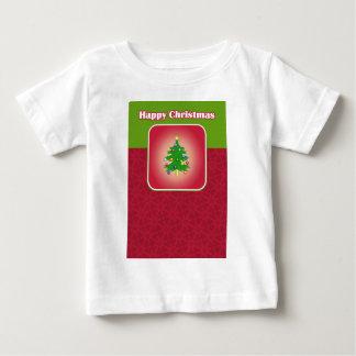 Camiseta Para Bebê Modelo da árvore de Natal