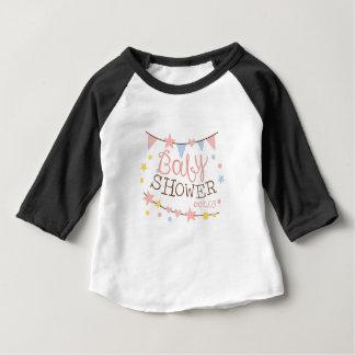 Camiseta Para Bebê Modelo do design do convite do chá de fraldas com