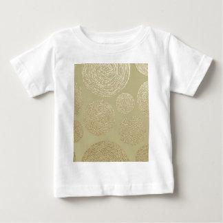 Camiseta Para Bebê modernas, ouro, bolinhas, metálico, elegante,