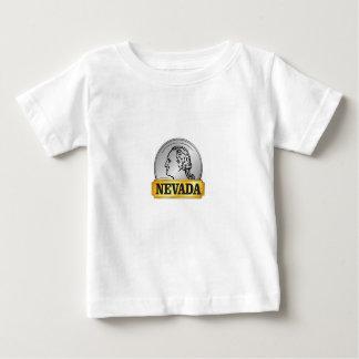 Camiseta Para Bebê moeda de nevada