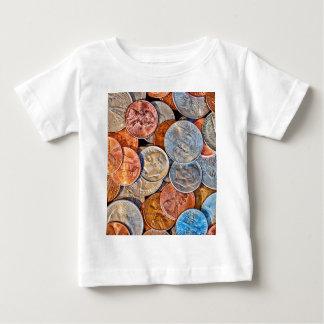 Camiseta Para Bebê Moeda inventada