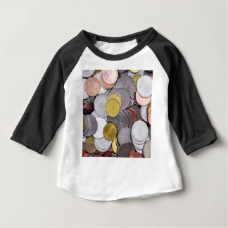 Camiseta Para Bebê Moedas romenas da moeda
