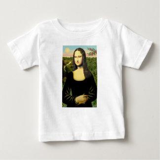 Camiseta Para Bebê Mona Lisa - introduza um animal de estimação (#2)