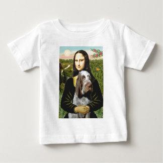 Camiseta Para Bebê Mona Lisa - italiano Spinone (roan 10)