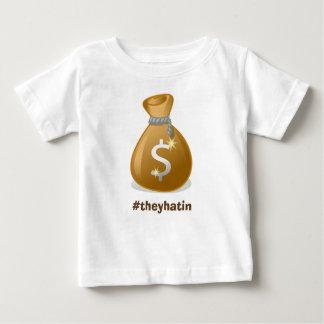 Camiseta Para Bebê Moneybags do bebê