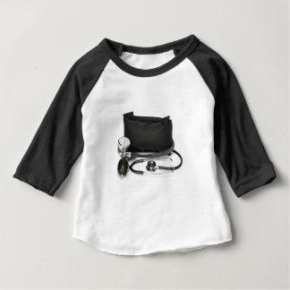 Camiseta Para Bebê Monitor profissional preto da pressão sanguínea no
