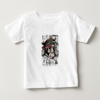 Camiseta Para Bebê monkey o design bonito do pirata