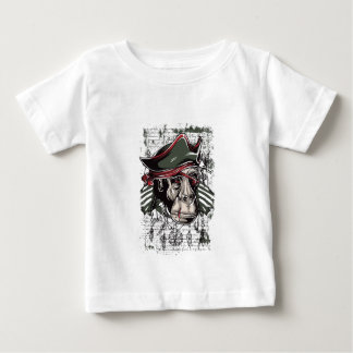 Camiseta Para Bebê monkey o design bonito do pirata