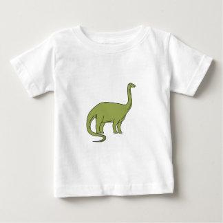Camiseta Para Bebê Mono linha do Brontosaurus
