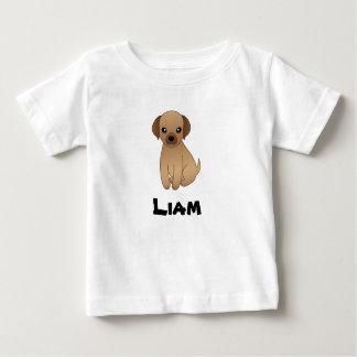 Camiseta Para Bebê Monograma bonito do t-shirt das crianças com