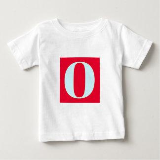 Camiseta Para Bebê Monograma brilhante e elegante do alfabeto