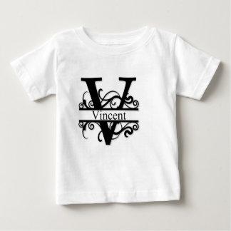 Camiseta Para Bebê Monograma de Vincent V