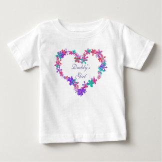 Camiseta Para Bebê Monograma personalizado do coração