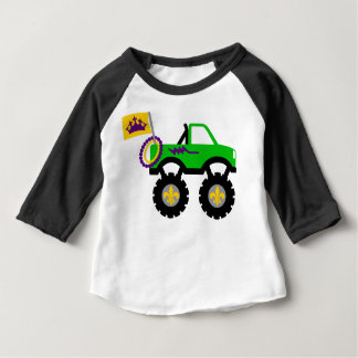 Camiseta Para Bebê Monster truck do carnaval