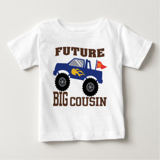 Camiseta Para Bebê Monster truck grande futuro do primo