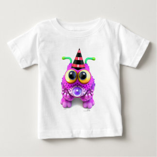 Camiseta Para Bebê Monsterlings - Poof Gots Nones
