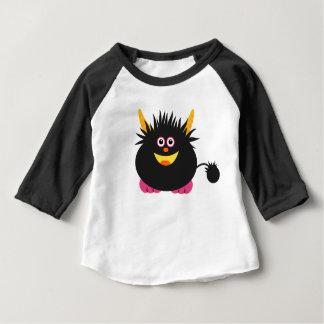 Camiseta Para Bebê Monstro bonito pequeno