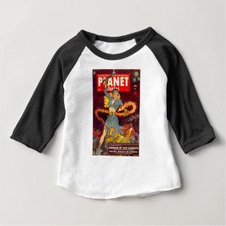 Camiseta Para Bebê Monstro de combate da mulher