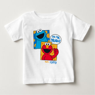 Camiseta Para Bebê Monstro & Elmo do biscoito | Ha Ha yeah