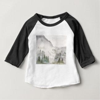 Camiseta Para Bebê Montanhas enevoadas