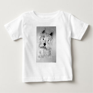 Camiseta Para Bebê Montanhas Terrier branco ocidentais