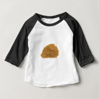 Camiseta Para Bebê Montão do pó da canela no fundo branco