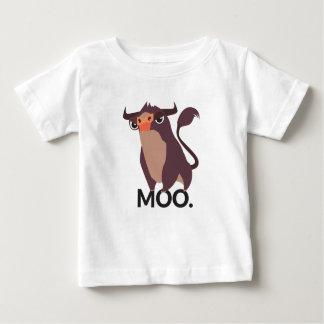 Camiseta Para Bebê MOO, design médio da vaca