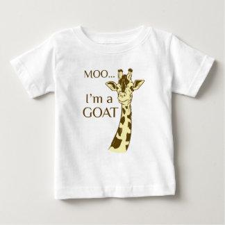 Camiseta Para Bebê MOO im uma cabra