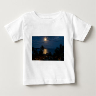 Camiseta Para Bebê Moon on bora bora
