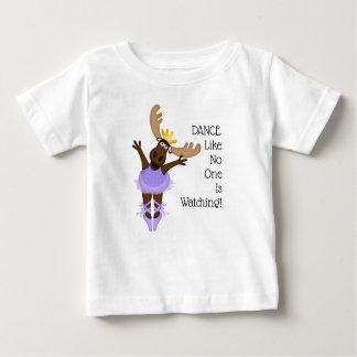 Camiseta Para Bebê Mooserina os alces desajeitados eu espero-o dança