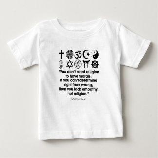 Camiseta Para Bebê Morais da religião