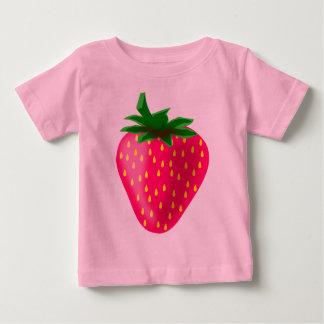 Camiseta Para Bebê Morango bonito e doce