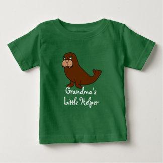 Camiseta Para Bebê Morsa bonito