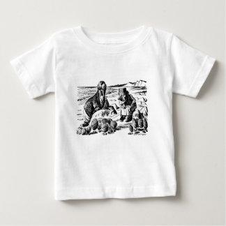Camiseta Para Bebê Morsa, Carpeter e ostras