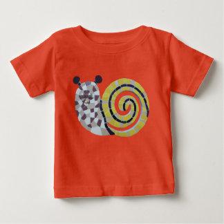 Camiseta Para Bebê Mosaico bonito Cust do caracol. T-shirt do bebê