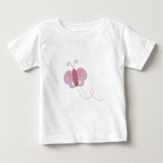 Camiseta Para Bebê Mosca da manteiga do design no branco