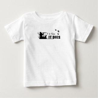 Camiseta Para Bebê moscas morre