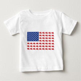 Camiseta Para Bebê Motor-Ciclo-Bandeira-ASA