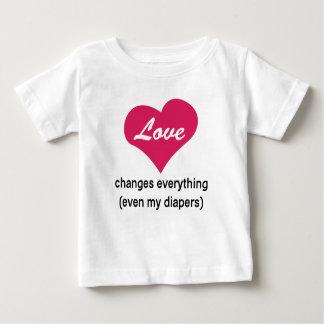 Camiseta Para Bebê Mudanças do amor