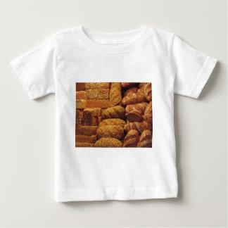 Camiseta Para Bebê Muitos pães misturados e fundo dos rolos