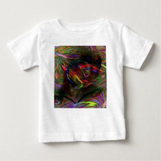 Camiseta Para Bebê Mulher abstrata dois