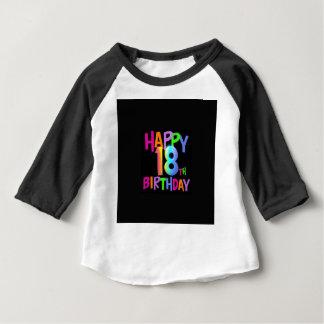 Camiseta Para Bebê MULTI COR do 18o ANIVERSÁRIO FELIZ