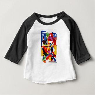 Camiseta Para Bebê Mundo abstrato da modificação